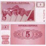 Banconote di collezione Slovenia Pk N° 3 - 5 Tollarjev