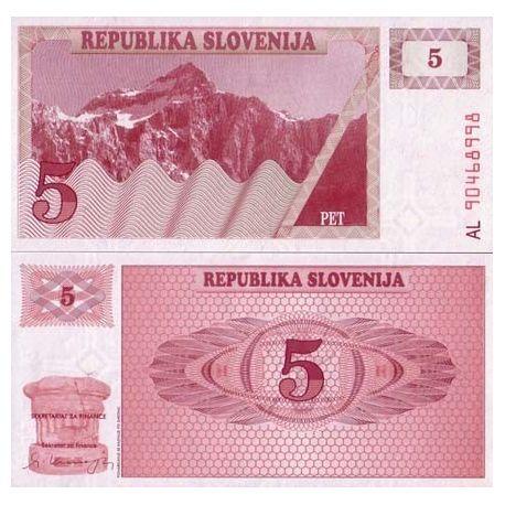 Slovenie - Pk N° 3 - Billet de 5 Tollarjev