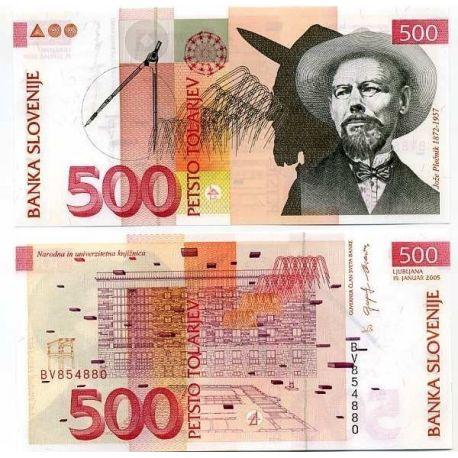 Slovenie - Pk N° 16 - Billet de 500 Tollarjev