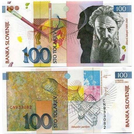 Slovenie - Pk N° 14 - Billet de 100 Tollarjev