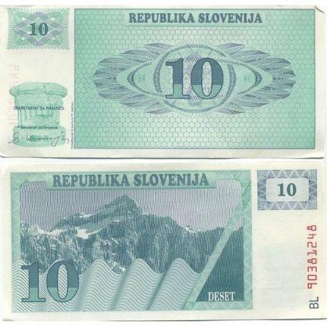 Slovenie - Pk N° 4 - Billet de 10 Tollarjev