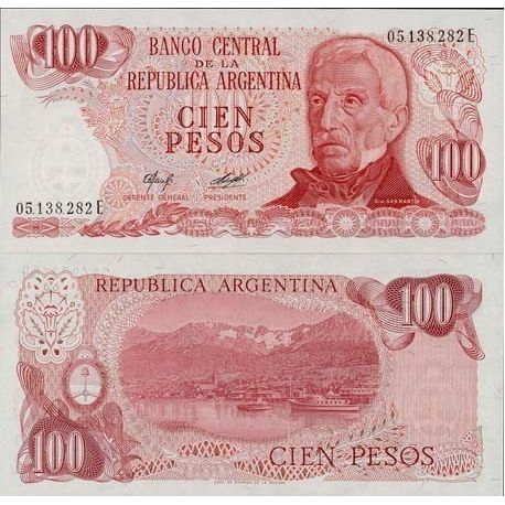 Argentinien - Pk Nr. 302-100 Pesos Anmerkung