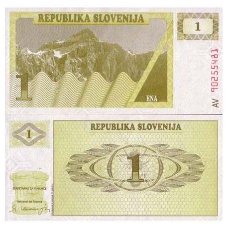 Slowenien - Nr. 1 Pk - 1 Tollar ticket