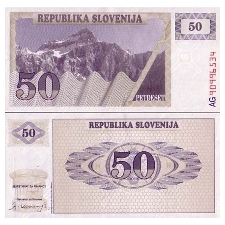Slovenie - Pk N° 5 - Billet de 50 Tollarjev