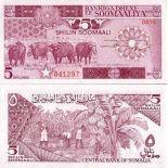 Banknoten Sammlung Somalia Pick Nummer 31 - 5 Shilling