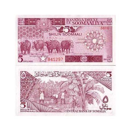 Somalia - Pk No. 31 - 5 Shillings ticket