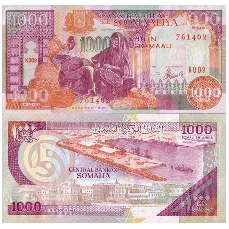 Billets de collection Billets collection Somalie Pk N° 37 - 1000 Shillings Billets de Somalie 4,00 €
