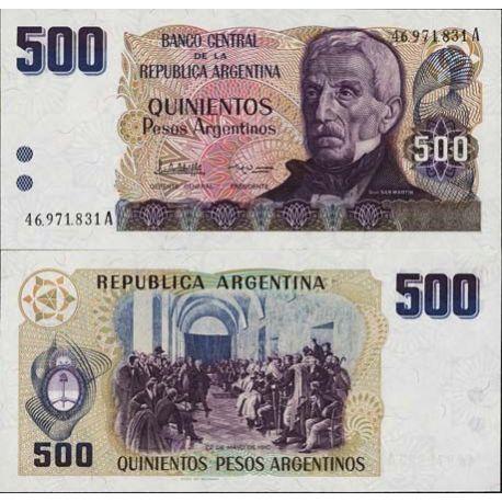 Argentinien - Pk Nr. 316-500 Pesos Anmerkung