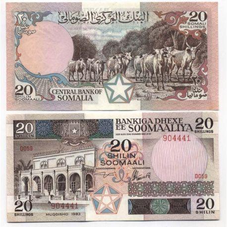 Billet de banque Somalie Pk N° 33 - 20 Shillings