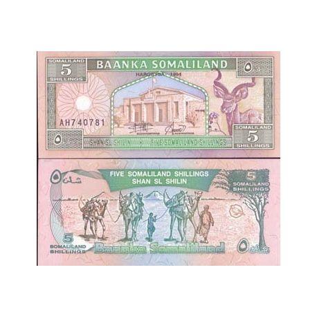 Billets banque Somaliland Pk N° 1 - 5 Shillings