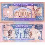 Billet de collection Somaliland Pk N° 7 - 50 Shillings