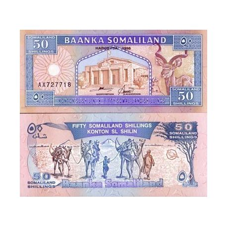 Billets de collection Billet de collection Somaliland Pk N° 7 - 50 Shillings Billets du Somaliland 4,00 €