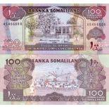 Billets collection Somaliland Pk N° 5 - 100 Shillings