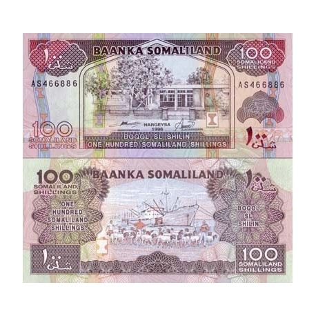 Billets de collection Billets collection Somaliland Pk N° 5 - 100 Shillings Billets du Somaliland 8,00 €