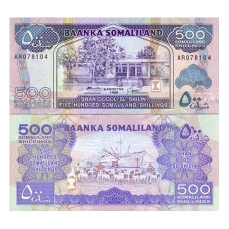 Billets de collection Billet de collection Somaliland Pk N° 6 - 500 Shillings Billets du Somaliland 2,00 €