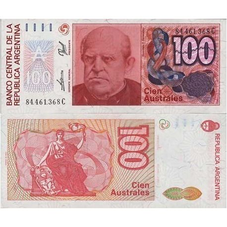 Argentina - Pk # 327 - 100 note Austral