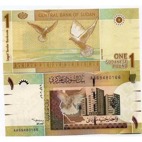 Billets de collection Billets banque Soudan Pk N° 64 - 1 Pound Billets du Soudan 2,00 €