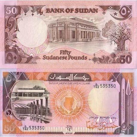 Billets de collection Billets banque Soudan Pk N° 48 - 50 Dinars Billets du Soudan 8,00 €