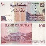 Precioso de billetes Sudán Pick número 56 - 100 Livre