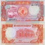 Collection of Banknote Sudan Pick number 45 - 5 Livre