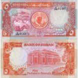Sammlung von Banknoten Sudan Pick Nummer 45 - 5 Livre