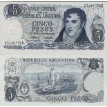 Collezione banconote Argentina Pick numero 294 - 5 Peso 1974