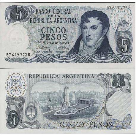 Argentinien - Pk Nr. 294-5 Pesos Anmerkung