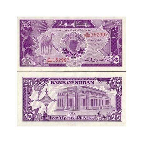 Billets de collection Billets de banque Soudan Pk N° 37 - 25 Piastres Billets du Soudan 2,00 €