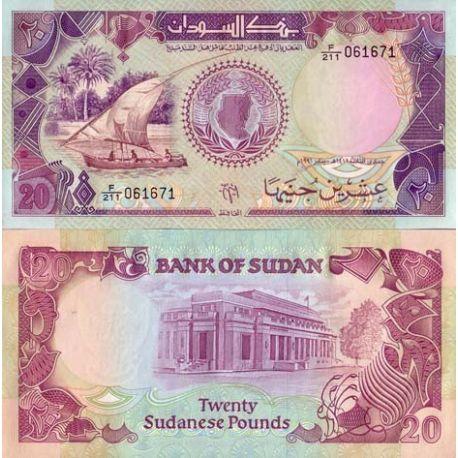 Sudan - Pk Nr. 47 - 20-Schilling-note