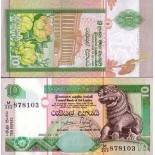 Billet de collection Sri Lanka Pk N° 115 - 10 Ruppees