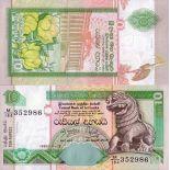 Banknoten Sammlung Sri Lanka Pick Nummer 108 - 10 Roupie