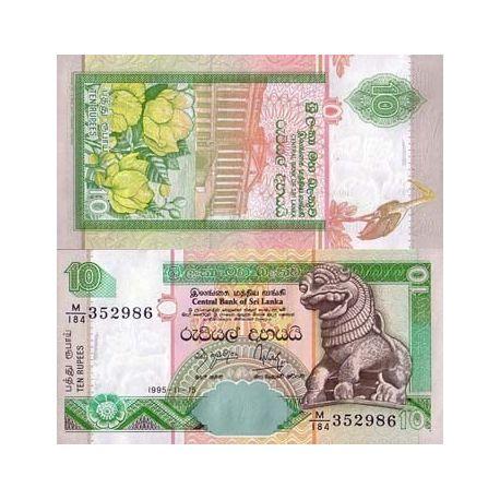 Billets de collection Billets de banque Sri Lanka Pk N° 108 - 10 Rupees Billets du Sri Lanka 2,00 €