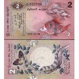 Banconote Sri Lanka Pick numero 83 - 2 Roupie