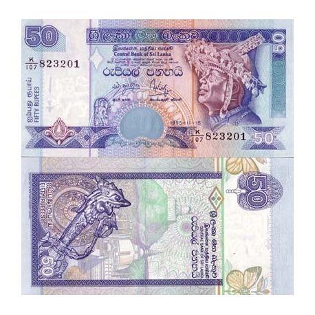 Billets de collection Billet de collection Sri Lanka Pk N° 110 - 50 Rupees Billets du Sri Lanka 4,00 €