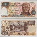 Banknoten Argentinien Pick Nummer 304 - 1000 Peso 1976