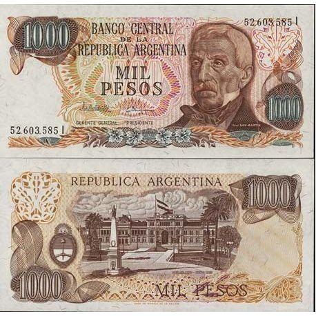 Argentinien - Pk Nr. 304-1000 Pesos Anmerkung