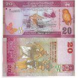 Sammlung von Banknoten Sri Lanka Pick Nummer 123 - 20 Roupie