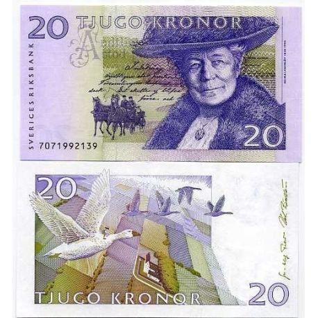 Billets banque Suede Pk N° 63 - 20 Kronor