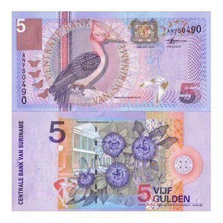 Surinam - Pk N° 146 - Billet de 5 Gulden