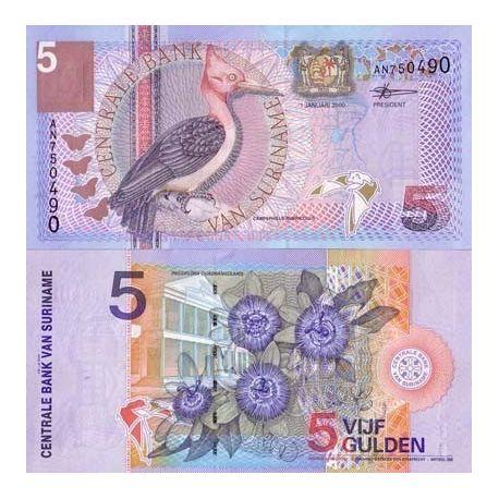 Surinam - Pk Nr. 146-5 Gulden beachten Sie