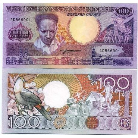 Surinam - Pk N° 133 - Billet de 100 Gulden