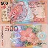 Banknote collection Suriname Pick number 150 - 500 Gulden
