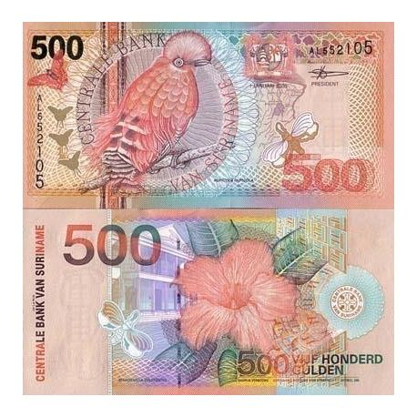 Billets de collection Billet de collection SURINAM Pk N° 150 - 500 Gulden Billets du Surinam 45,00 €