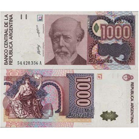 Argentine - Pk N° 329 - Billet de 1000 Australes