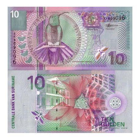 SURINAME - Pk # 147 - Ticket 10 Gulden