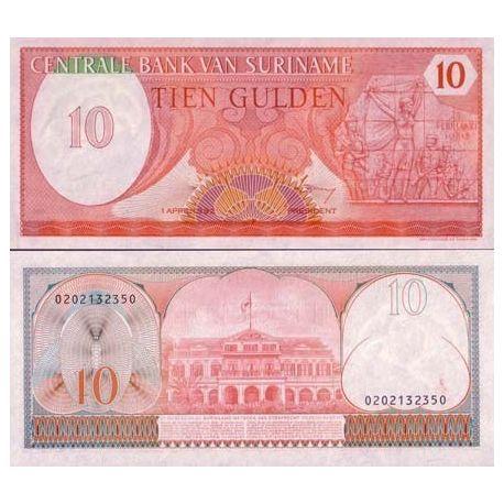 SURINAME - Pk # 126 - Ticket 10 Gulden