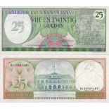 Precioso de billetes Suriname Pick número 127 - 25 Gulden