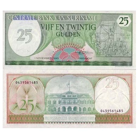 SURINAME - Pk # 127 - Ticket 25 Gulden