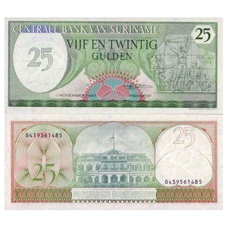 Billet de banque SURINAM Pk N° 127 - 25 Gulden