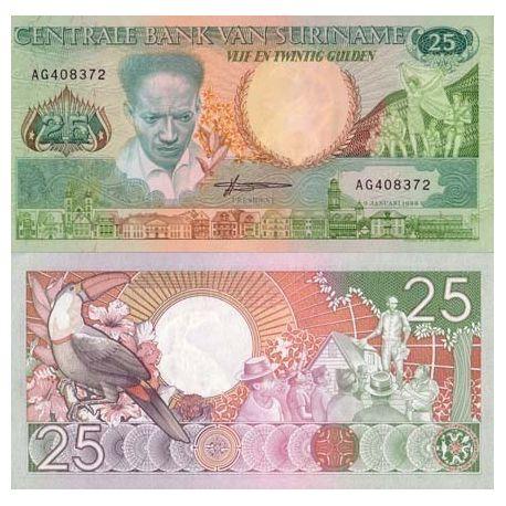 SURINAME - Pk # 132 - Ticket 25 Gulden